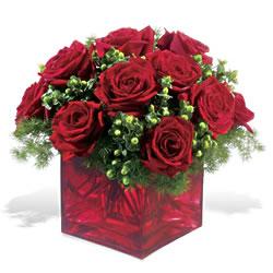 Erzincan anneler günü çiçek yolla  9 adet kirmizi gül cam yada mika vazoda