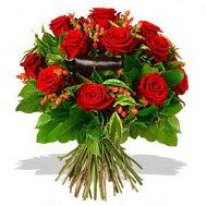 9 adet kirmizi gül ve kir çiçekleri  Erzincan çiçek yolla , çiçek gönder , çiçekçi