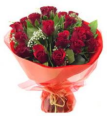 Erzincan hediye çiçek yolla  11 adet kimizi gülün ihtisami buket modeli