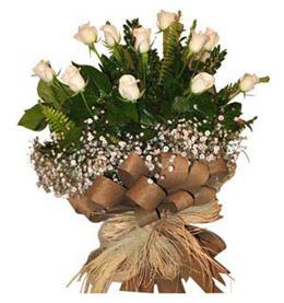 Erzincan çiçek online çiçek siparişi  9 adet beyaz gül buketi