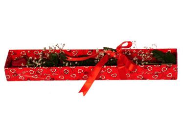 Erzincan çiçek online çiçek siparişi  kutu içerisinde 1 adet kirmizi gül