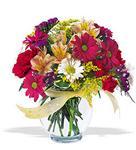 Erzincan çiçek mağazası , çiçekçi adresleri  cam yada mika vazo içerisinde karisik kir çiçekleri