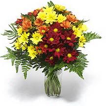 Erzincan online çiçekçi , çiçek siparişi  Karisik çiçeklerden mevsim vazosu
