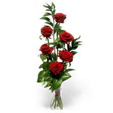 Erzincan çiçek , çiçekçi , çiçekçilik  mika yada cam vazoda 6 adet essiz gül