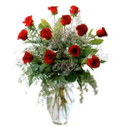 Vazo içerisinde 11 kirmizi gül  Erzincan çiçek yolla