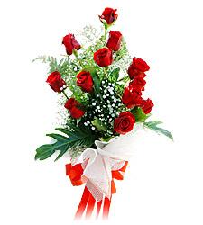 11 adet kirmizi güllerden görsel sölen buket  Erzincan çiçek yolla