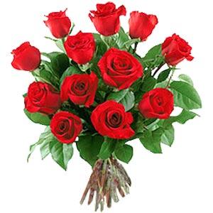 11 adet bakara kirmizi gül buketi  Erzincan çiçek siparişi vermek
