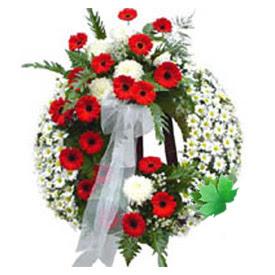 Cenaze çelengi cenaze çiçek modeli  Erzincan çiçek , çiçekçi , çiçekçilik