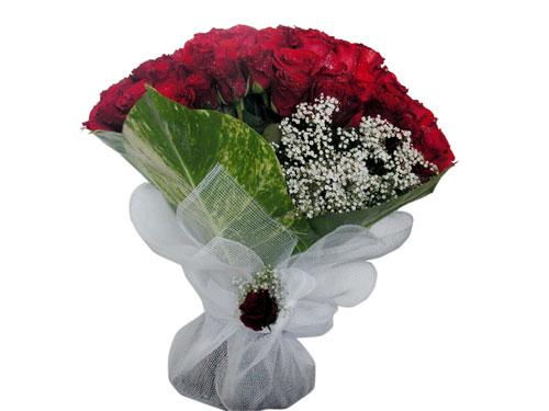 25 adet kirmizi gül görsel çiçek modeli  Erzincan internetten çiçek satışı