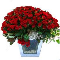 Erzincan İnternetten çiçek siparişi   101 adet kirmizi gül aranjmani