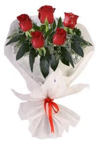 5 adet kirmizi gül buketi  Erzincan İnternetten çiçek siparişi