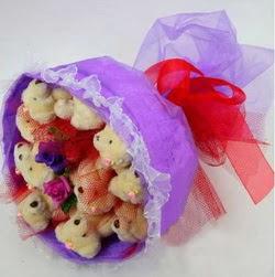 11 adet ayiciktan buket  Erzincan çiçek gönderme sitemiz güvenlidir