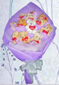 12 adet ayiciktan buket tanzimi  Erzincan çiçek siparişi vermek