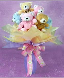 8 adet ayiciktan buket  Erzincan çiçek yolla , çiçek gönder , çiçekçi