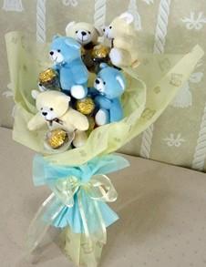 6 adet ayiciktan buket tanzimi  Erzincan çiçek satışı