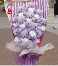 11 adet pelus ayicik buketi  Erzincan 14 şubat sevgililer günü çiçek