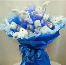 7 adet pelus ayicik buketi  Erzincan çiçek mağazası , çiçekçi adresleri