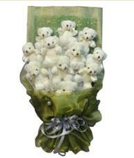11 adet pelus ayicik buketi  Erzincan çiçek gönderme