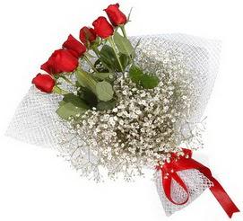 7 adet essiz kalitede kirmizi gül buketi  Erzincan çiçekçi mağazası