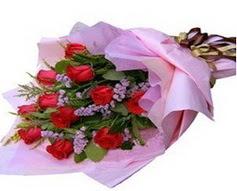 11 adet kirmizi güllerden görsel buket  Erzincan 14 şubat sevgililer günü çiçek