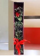 kutu içinde tek kirmizi gül  Erzincan çiçek siparişi sitesi