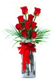 Erzincan çiçek online çiçek siparişi  9 adet mika yada cam vazoda gül tanzimi