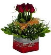 Erzincan hediye sevgilime hediye çiçek  7 adet mika yada cam vazoda gül tanzimi