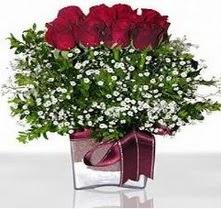 Erzincan çiçek yolla , çiçek gönder , çiçekçi   mika yada cam vazo içerisinde 7 adet gül