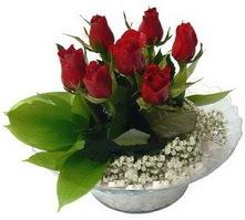 Erzincan çiçek yolla , çiçek gönder , çiçekçi   cam yada mika içerisinde 5 adet kirmizi gül