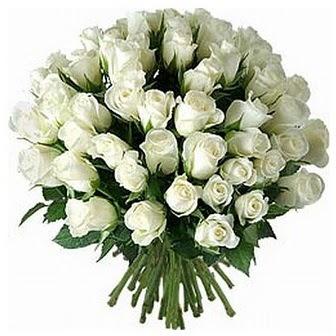 Erzincan internetten çiçek satışı  33 adet beyaz gül buketi