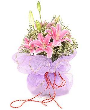 3 dal kazablanka görsel buketi  Erzincan çiçek yolla , çiçek gönder , çiçekçi
