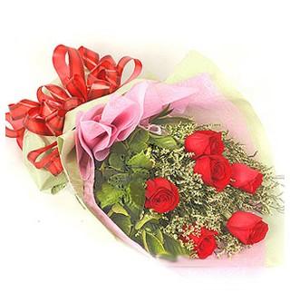Erzincan çiçek mağazası , çiçekçi adresleri  6 adet kırmızı gülden buket