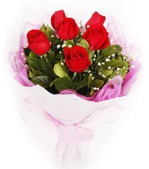 Erzincan çiçekçi mağazası  kırmızı 6 adet gülden buket