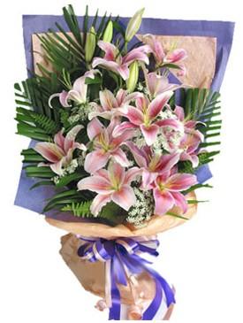 7 dal kazablankadan görsel buket  Erzincan internetten çiçek siparişi