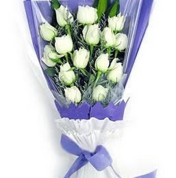 Erzincan yurtiçi ve yurtdışı çiçek siparişi  11 adet beyaz gül buket modeli