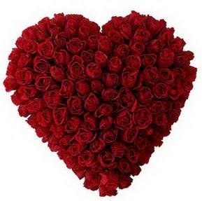 Erzincan yurtiçi ve yurtdışı çiçek siparişi  muhteşem kırmızı güllerden kalp çiçeği