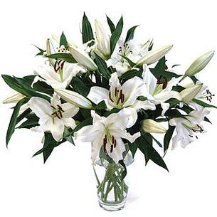 Erzincan çiçek online çiçek siparişi  3 dal görsel casablanca vazo tanzimi