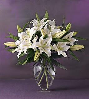 Erzincan uluslararası çiçek gönderme  4 dal cazablanca vazo çiçeği