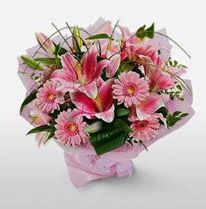 1 dal kazablanka ve kır çiçek görsel buketi  Erzincan çiçek yolla , çiçek gönder , çiçekçi
