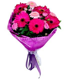 Erzincan online çiçekçi , çiçek siparişi  karışık gerbera çiçeği buketi