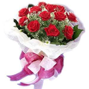 Erzincan çiçek servisi , çiçekçi adresleri  11 adet kırmızı güllerden buket modeli
