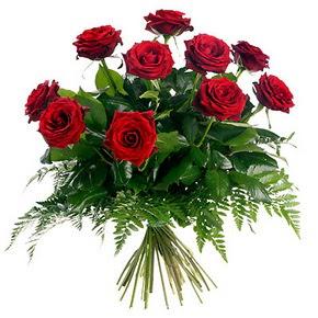 Erzincan hediye sevgilime hediye çiçek  10 adet kırmızı gülden buket