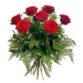 Erzincan çiçek gönderme  7 adet kırmızı gülden buket