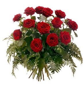 Erzincan çiçek yolla , çiçek gönder , çiçekçi   15 adet kırmızı gülden buket