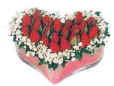 Erzincan çiçek online çiçek siparişi  mika kalpte kirmizi güller 9