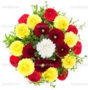 Erzincan yurtiçi ve yurtdışı çiçek siparişi  13 adet mevsim çiçeğinden görsel buket