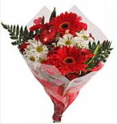 Mevsim çiçeklerinden görsel buket  Erzincan İnternetten çiçek siparişi