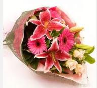 1 dal kazablanka ve mevsim çiçekleri  Erzincan çiçek gönderme sitemiz güvenlidir