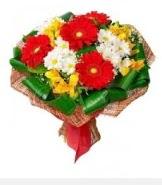 1 demet karışık buket  Erzincan çiçekçi mağazası