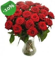 Vazo içerisinde 25 adet kırmızı gül  Erzincan çiçekçi telefonları